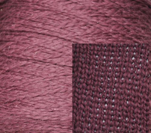 1650g double knit damson linen and cotton mix